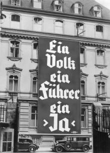 Wahlplakat der NSDAP zur Reichstagswahl